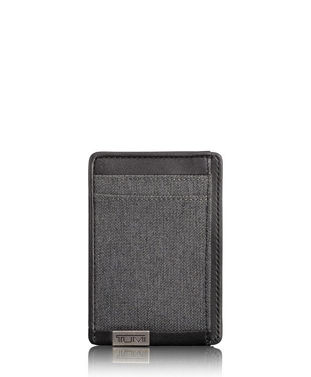 TUMI ID Lock™ Money Clip Card Case in Anthracite/Black