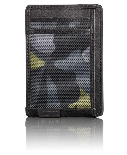 TUMI ID Lock™ Money Clip Card Case in Green Camo
