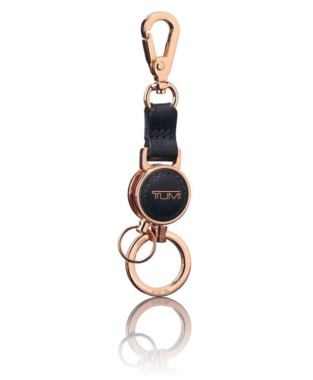 Multi Valet Key Fob in Black/Rose Gold