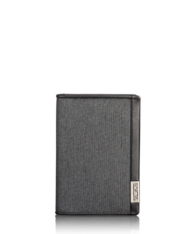 TUMI ID Lock™ Multi Window Card Case in Anthracite/Black