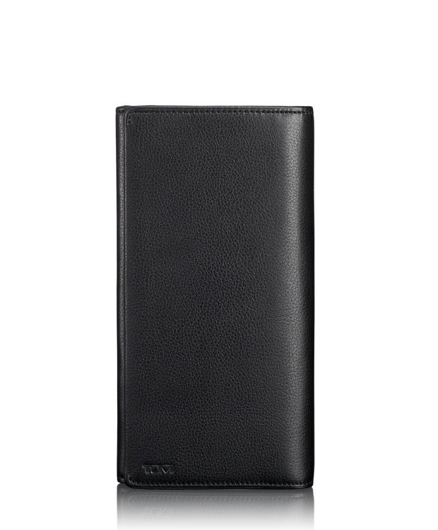 TUMI ID Lock™ Breast Pocket Wallet in Black Textured