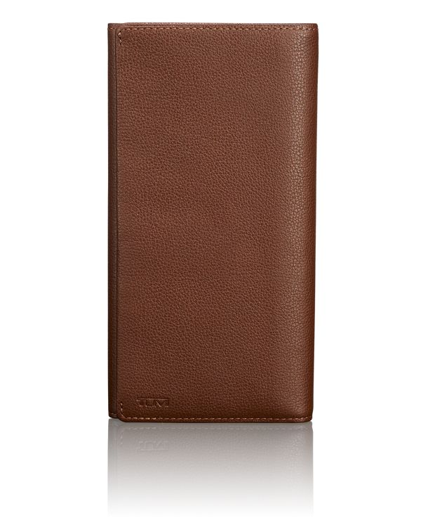 TUMI ID Lock™ Breast Pocket Wallet in Brown Textured