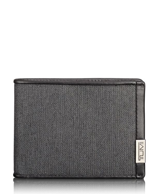 TUMI ID Lock™ Double Billfold in Anthracite/Black