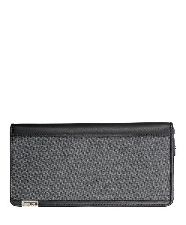 TUMI ID Lock™ Zip-Around Travel Wallet in Anthracite/Black