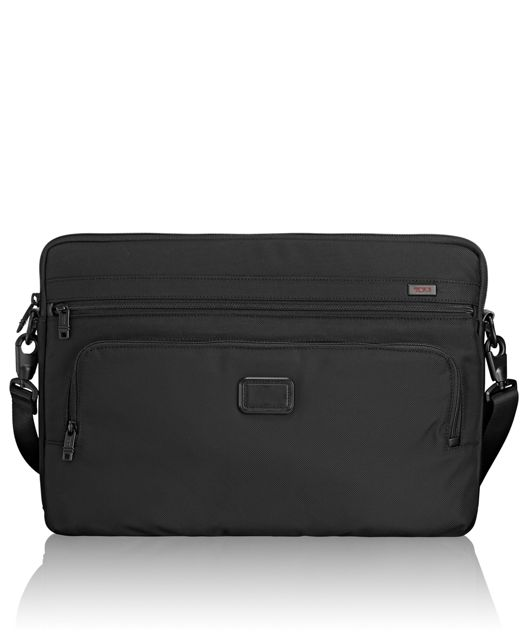 Extra Large Laptop Cover with Strap in Black