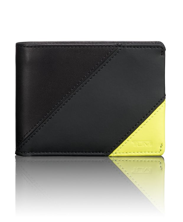 TUMI ID Lock™ Double Billfold in Citron Pieced Leathe