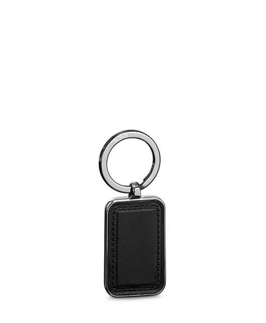 Gun  Metal Embossed Patch Key Fob