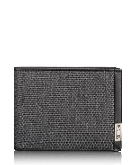TUMI ID Lock™ Global Wallet with Coin Wallet in Anthracite/Black