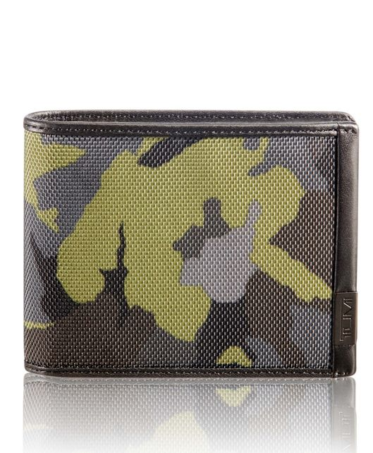 TUMI ID Lock™ Global Wallet with Coin Wallet in Green Camo
