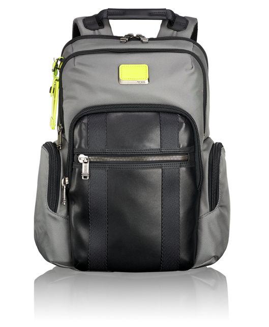 Nellis Backpack in Grey/Citron Pop