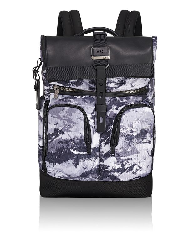 London Roll Top Backpack in Arctic Restoration