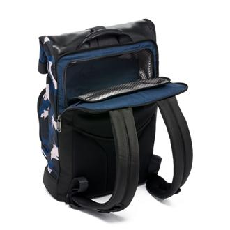 LONDON ROLL-TOP BKPK Blue - medium | Tumi Thailand