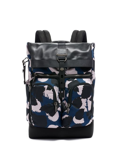 London Roll Top Backpack in Congo Print