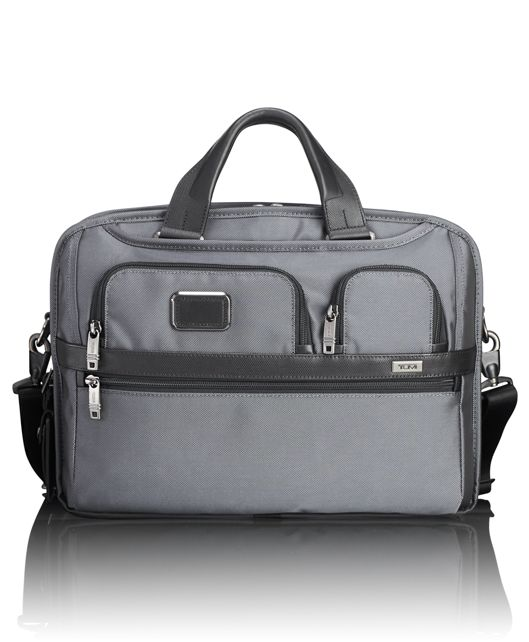 TUMI T-Pass® Medium Screen Laptop Slim Brief in Pewter