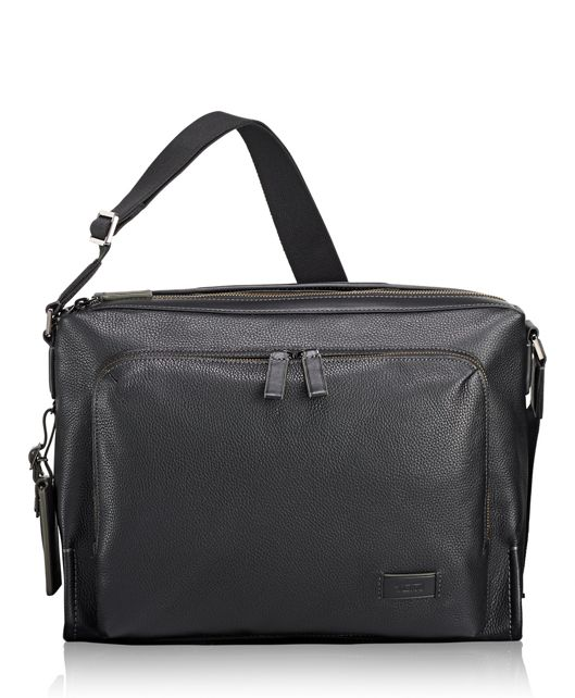 Forest Utility Bag Leather in Black Pebbled