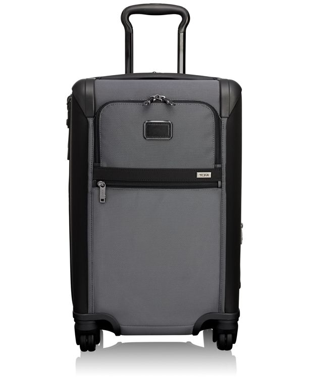 International Expandable 4 Wheeled Carry-On in Pewter