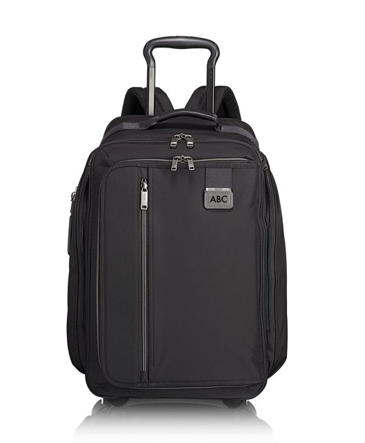 Wheeled Backpack in Black Contrast