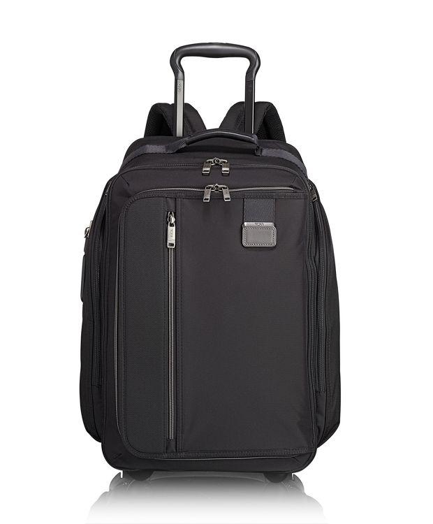 Wheeled Backpack in Black Contrast