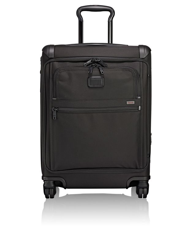 Continental Expandable 4 Wheeled Front Lid Carry-On in Black