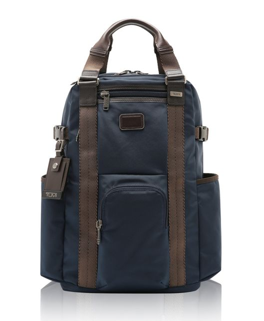 Lejeune Backpack Tote in Navy