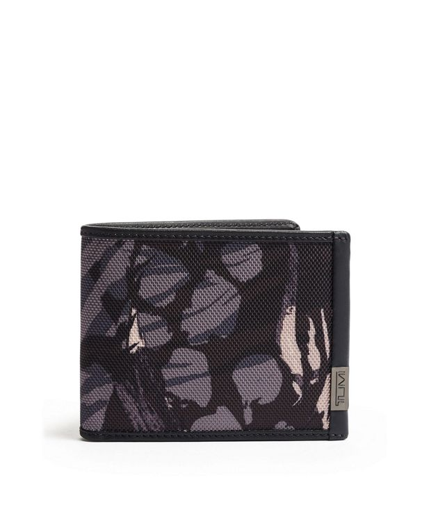 Global Double Billfold in Grey Highlands Print