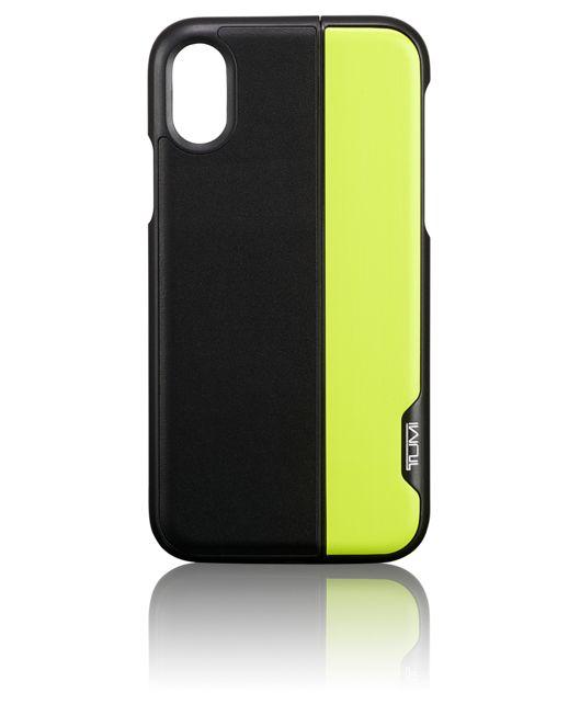 Horizontal Slider iPhone X in Black/Citron