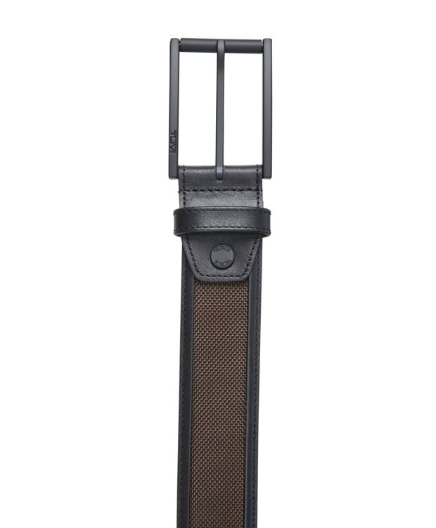 Gun  Metal/Brown Ballistic Belt