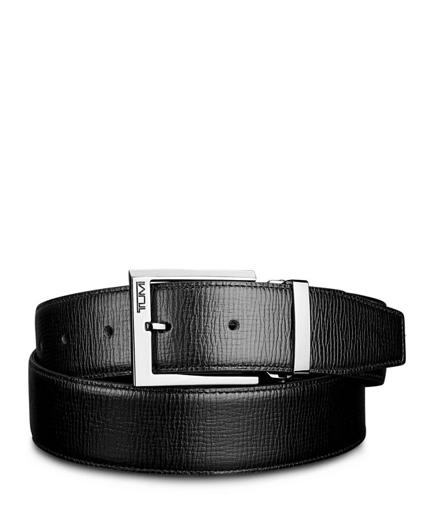 Monaco Leather Belt in Gun Metal/Black