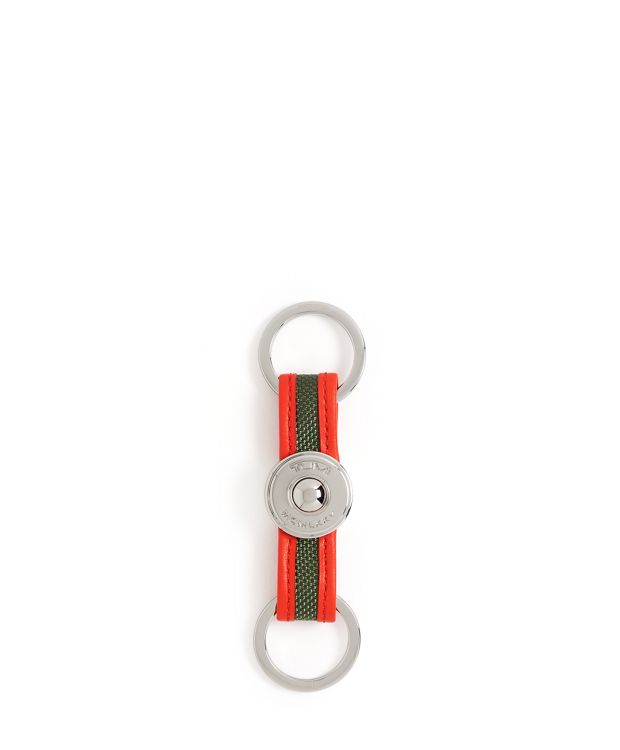 Alpha Valet Key Fob in Forest/Bright Red