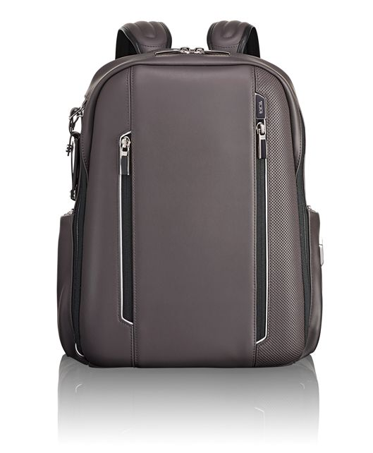 Logan Backpack Leather in Taupe