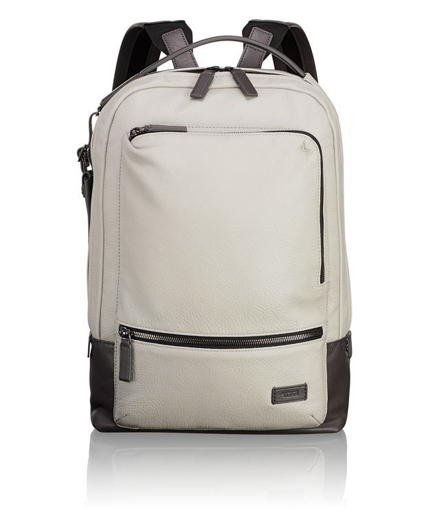 Bates Backpack Leather in Cement