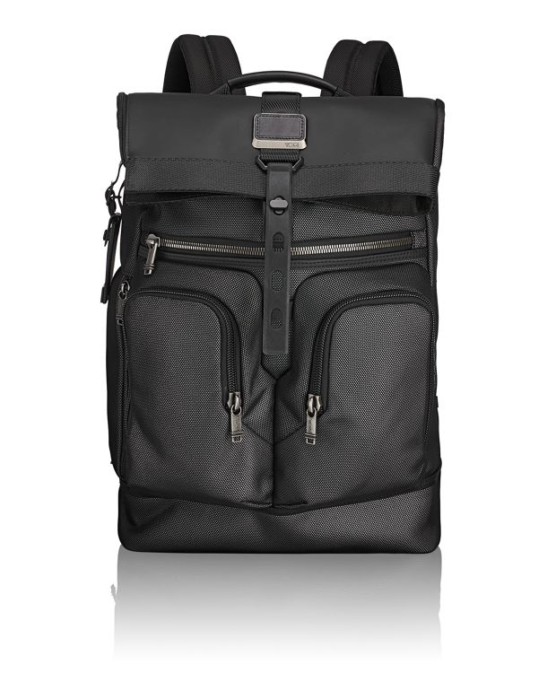 London Roll Top Backpack in Reflective Silver