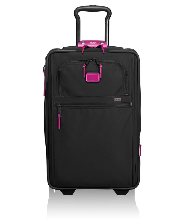 International Expandable 2 Wheeled Carry-On in Metallic Pink