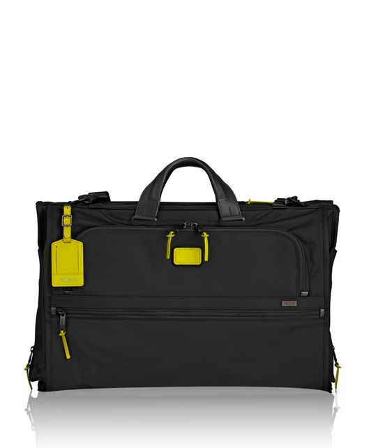Tri-Fold Carry-On Garment Bag in Citron