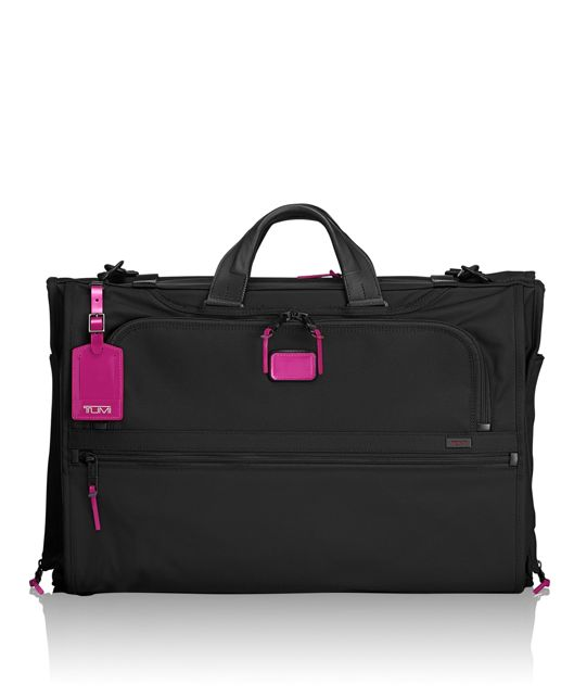 Tri-Fold Carry-On Garment Bag in Metallic Pink