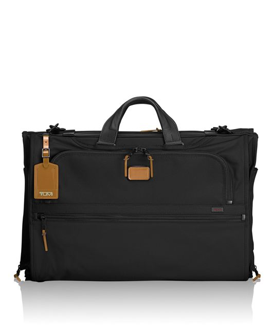 Tri-Fold Carry-On Garment Bag in Metallic Bronze