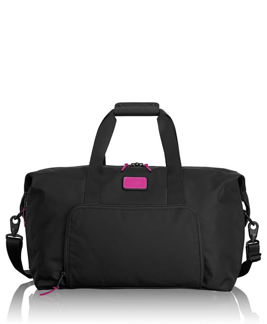 Double Expansion Satchel in Metallic Pink