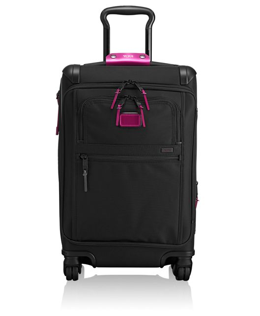 Front Lid International Carry-On in Metallic Pink