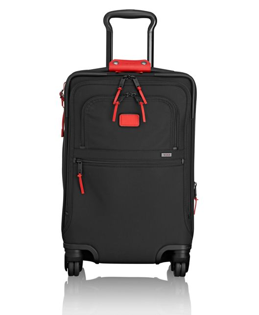 International 4 Wheeled Office Carry-On in Cherry