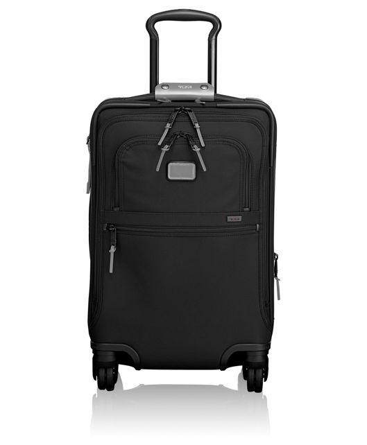 International 4 Wheeled Office Carry-On in Metallic Silver