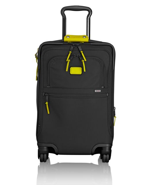 International 4 Wheeled Office Carry-On in Citron