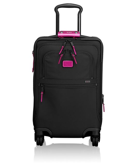 International 4 Wheeled Office Carry-On in Metallic Pink