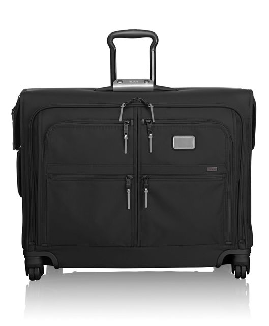 4 Wheeled Medium Trip Garment Bag in Metallic Silver