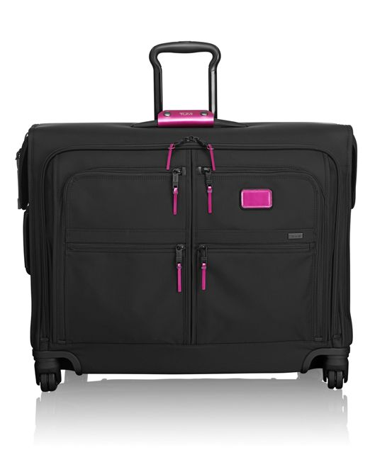 4 Wheeled Medium Trip Garment Bag in Metallic Pink