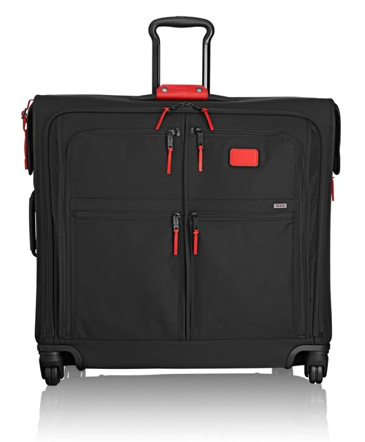 4 Wheeled Extended Trip Garment Bag in Cherry
