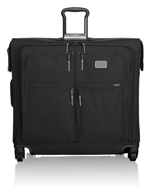 4 Wheeled Extended Trip Garment Bag in Metallic Silver