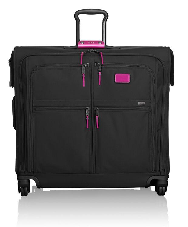 4 Wheeled Extended Trip Garment Bag in Metallic Pink