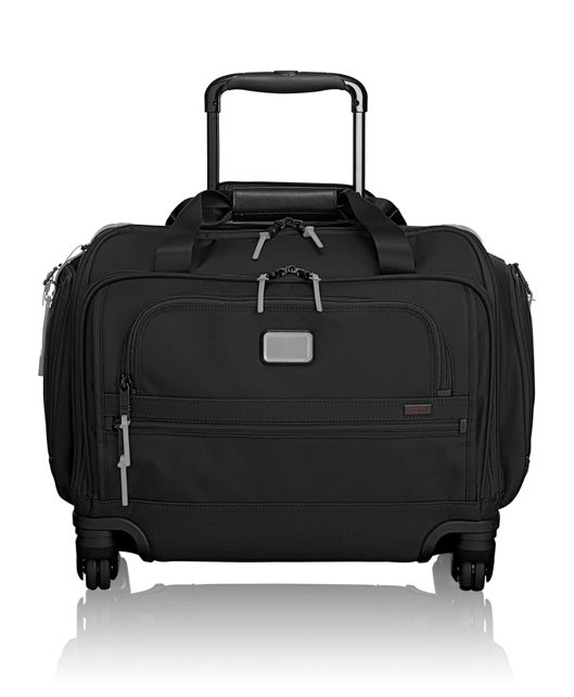 4 Wheeled Compact Duffel in Metallic Silver