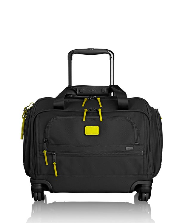 4 Wheeled Compact Duffel in Citron