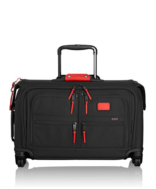 Carry-On 4 Wheeled Garment Bag in Cherry